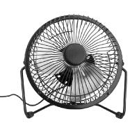 普润 usb迷你风扇静音4寸小风扇 USB桌面散热风扇电风扇 黑色