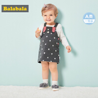 巴拉巴拉婴儿衣服宝宝秋装新款背带两件套儿童秋装套装