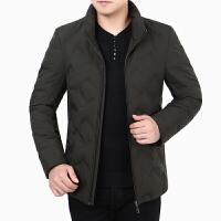 冬季新款青中年男士立领短款轻薄款羽绒服外套