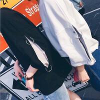 情侣短袖T恤男女学生七分袖上衣夏装新款韩版潮bf宽松落肩蝙蝠衫 XX