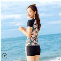 游泳衣女新款温泉保守分体裙式显瘦遮肚性感韩国少女长袖泳装