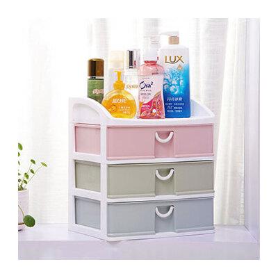 宝优妮桌面收纳盒抽屉式化妆品收纳架护肤品置物架梳妆台整理盒