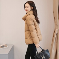 棉衣女短款冬装新款韩版学院风羽绒立领小棉袄面包服外套