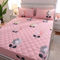 棉床笠单件棉夹棉席梦思保护套滑薄棕垫床垫套1.8m尘床罩T