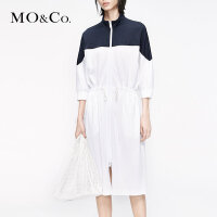 MOCO抽绳运动风连衣裙2019新款夏女装潮裙子显瘦MAI2DRS045摩安珂