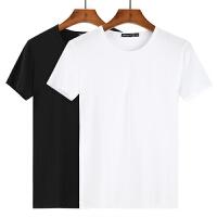 纯色短袖t恤男士衣服潮流韩版白色夏季圆领半袖棉体恤男装打底衫【潮流】【超火】