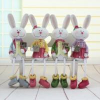 大号米菲兔子创意树脂工艺家居装饰品吊脚娃娃居家房间客厅小摆件