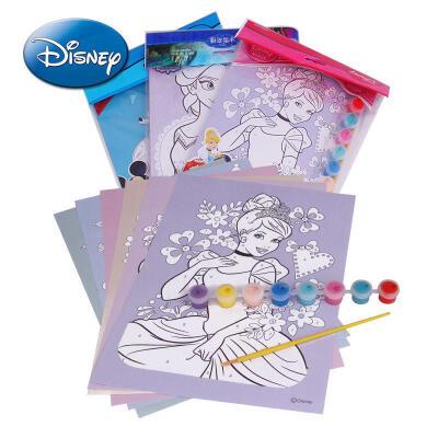 【领券立减50元】Disney/迪士尼 巧手数字画儿童无毒可水洗小学生美术绘画文具用品小巧DIY手绘画活动专属儿童早教益智玩具大促