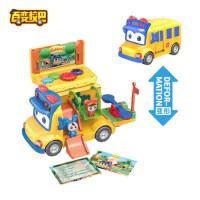百�校巴�形金��玩具套�b校�巴士歌德消防警��i�i�b�和��C器人