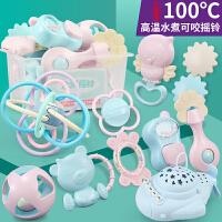 婴儿手摇铃玩具牙胶益智早教0-3个月宝宝新生5男女孩6到1一岁幼儿