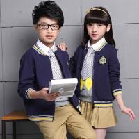 童装秋季新品男童女童校园风长袖班服校服中大儿童时尚套装学生服