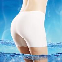 【春夏特价】夏季冰丝无痕女士安全裤 无痕一片式防走光三分打底内裤