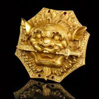 大小号铜狮咬剑铜狮子摆件挂件门饰居家平安装饰品