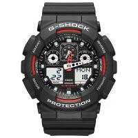【网易考拉】CASIO 卡西欧 G-Shock系列 男士时尚运动腕表 黑色 GA-100-1A4