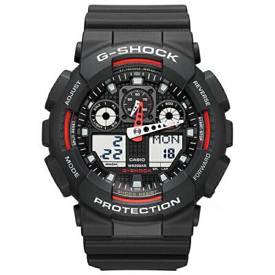 【网易考拉】CASIO 卡西欧 G-Shock系列 男士时尚运动腕表 黑色 GA-100-1A4(请注意:收货人姓名号码必须真实且对应,否则订单会被取消)