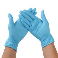 加厚蓝丁晴手套一次性乳胶橡胶防油耐油耐酸碱胶皮家用家务手套