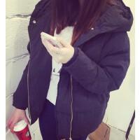 韩观 秋冬新款学院bf风短款外套女韩版羽绒学生宽松显瘦加厚棉衣