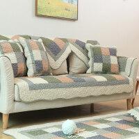 全棉美式沙发垫布艺四季通用防滑坐垫子水洗纯棉组合真皮沙发套巾