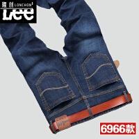 春季牛仔裤男直筒修身男士青年休闲裤子男装春款韩版男裤男款长裤 蓝色 6966款