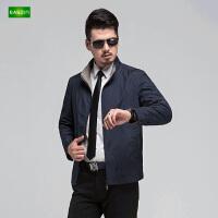 逸纯印品(EASZin)男士夹克衫 中年 立领 休闲短款  拉链 外套男装薄款上衣