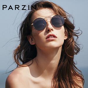 帕森2018新品 圆框时尚复古太阳镜女 炫彩摩登偏光镜司机驾驶镜9911