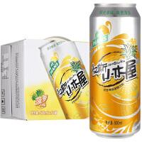 【领券立减】汉斯小木屋菠萝啤味碳酸饮料500ml*12听 无酒精