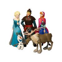 Q版冰雪奇缘爱莎安娜公主公仔人偶玩具汽车摆件玩偶儿童玩具 5个公仔 自定义大小1