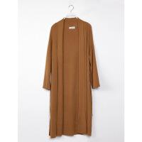 2018春夏韩国薄款毛衣外套 垂顺加厚纯色宽松系带针织衫开衫 均码