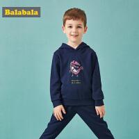 巴拉巴拉童装儿童套装男童宝宝秋装新款运动装小童男休闲连帽