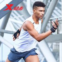 特步男子背心2018夏季新款舒适轻便专业运动健身跑步无袖T恤882229099344