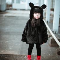 亲子装冬装韩版童装男女童母女装大衣加绒棉衣儿童宝宝仿皮草外套