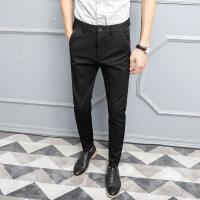 男士裤子上班修身小西裤男青年小脚西装裤免烫抗皱薄款长裤新