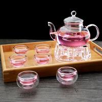 整套耐热玻璃茶壶加厚茶具套装花茶壶可加热过滤透明泡茶壶