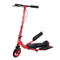 双翼滑板车 新款双翼滑板车 儿童二轮双踏板车健身休闲滑板车 校园代步车HW S1红色 180大轮(身高165以下)