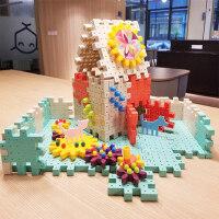 儿童积木拼插玩具益智力6开发1-2周岁幼儿园男女孩3蘑菇钉4拼装图