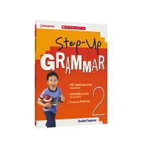 【首页抢券300-100】Scholastic Step Up Grammar 2 美国学乐英语 阶梯式语法 2年级 小