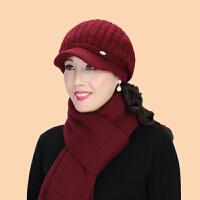 中老年人帽子女士冬天老年帽毛线帽老人帽冬奶奶妈妈帽棉帽鸭舌帽