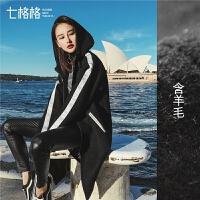毛呢大衣女装中长过膝2019春冬季新款加厚学生韩版黑色呢子外套潮
