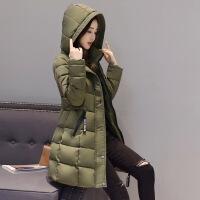 棉衣女中长款秋冬季新款韩版修身显瘦外套时尚潮流女装