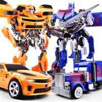 大警车擎天柱变身汽车机器礼物大号变形玩具金刚大黄蜂