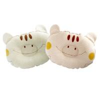 彩棉城堡 婴儿用品新款彩棉新生儿婴儿定型枕头儿童侧睡枕卡通纯棉
