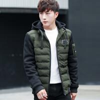 棉衣男韩版潮流修身帅气2017冬季男士青少年冬装外套加厚短款