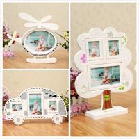 5寸3寸大6寸儿童宝宝相框摆台 创意客厅简易像框架 组合画框 (含洗相片)
