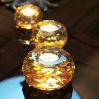 水晶玻璃小蜡烛台 香薰烛台 浪漫求婚烛光晚餐道具小烛台摆件