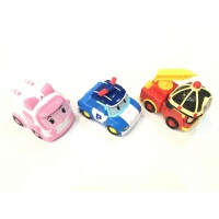 儿童仿真玩具车套装救援车3只惯性变形工程车模型男孩玩具礼物 3702珀利救援车3只