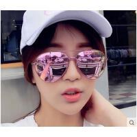 新品个性男女圆脸墨镜 时尚大框太阳镜炫彩彩膜太阳镜女蛤蟆镜