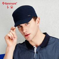 kenmont户外夏天帽子休闲平顶帽男韩版太阳帽春秋军帽纯棉棒球帽3221
