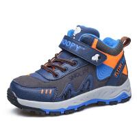 史努比童鞋男童运动鞋冬季新款儿童运动鞋加绒保暖男童户外鞋