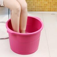 沃之沃洗脚桶塑料按摩底洗脚盆加厚冬足浴盆家用洗衣盆加高收纳桶