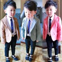 2男宝春装外套5儿童6男童休闲西装韩版潮百搭1-3岁男宝宝西服绅士